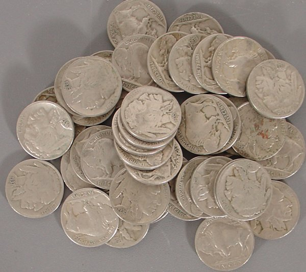 44 Buffalo Nickels with dates