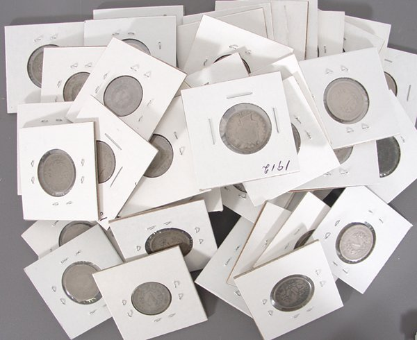 50 Liberty Nickels in holders