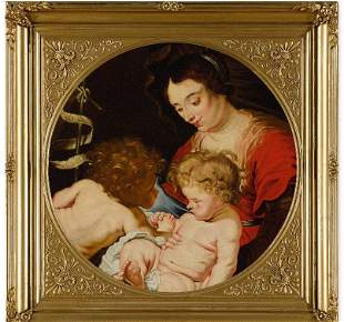 Painting of the Virgin and Child, van Dyck or circle of