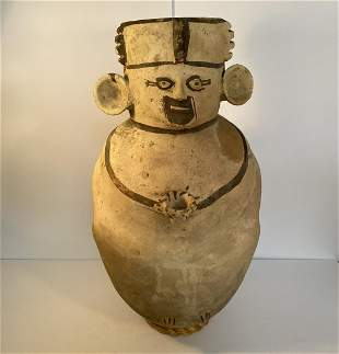 Large Pre-Columbian Chancay Cuchimilco Effigy vessel