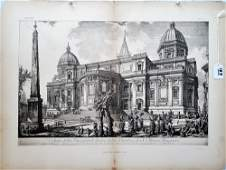 Two Prints of Ruins, after Piranesi