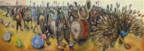 NATASHA TUROVSKY, Procession, print on canvas