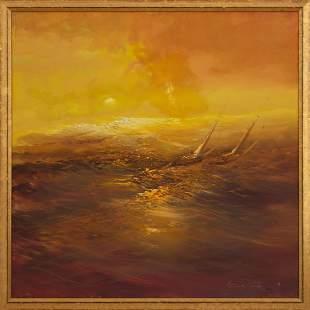 RODOLFO VIOLA, Paradiso in Mare, oil on canvas