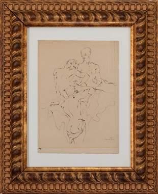 LEONOR FINI, Girls, pen & ink on paper