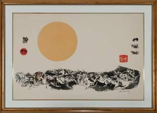 HOI LEBADANG, The Golden Orb, Lithograph