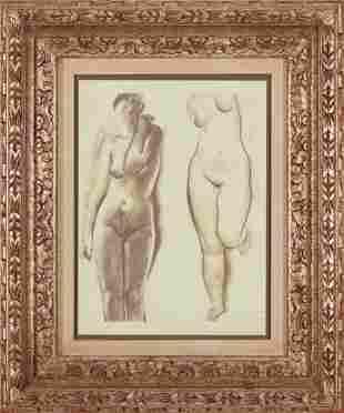 MARINO MARINI, Two Nudes, drawings on paper