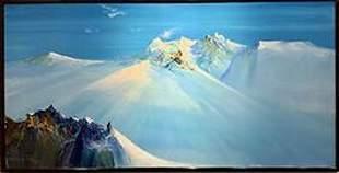 RODOLFO VIOLA, Ghiaccio E Roccia oil on canvas