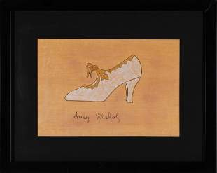 ANDY WARHOL, Shoe, lithograph, print signed