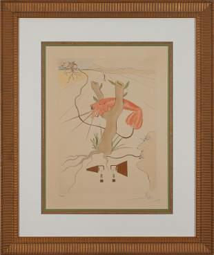 SAVADOR DALI, Le Telephone (I), Lithograph on Arches,
