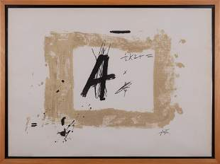 ANTONI TAPIES, A mixed media on paper