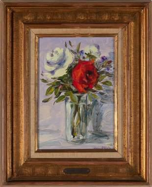 GEORGES YOLDJOGLOV, Flowers in vase, oil on canvas
