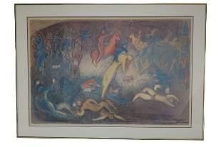 Vintage Marc Chagall Original Print Poster
