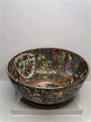 Chinese antique Rose famille bowl