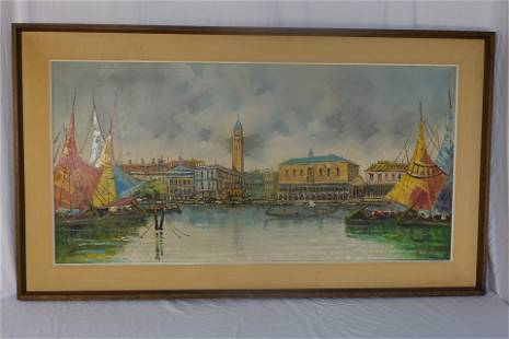 Venice, Oil On Canvas Painting