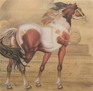 A Chinese Horse Painting, Lang Shining Mark