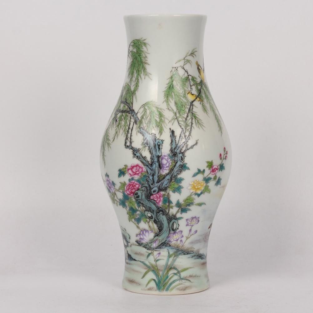 A Famille Rose Flower&Bird Pattern Porcelain