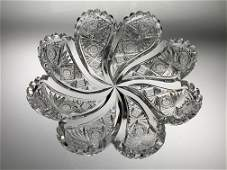 Hawkes Kohinoor Blown Out Cut Glass bowl