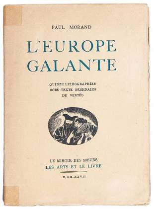 MORAND AND VERTES - L'Europe Galante 1927