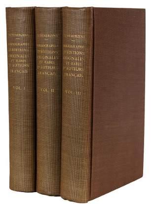 TCHEMERZINE - Bibliographie Auteurs Francais 1929