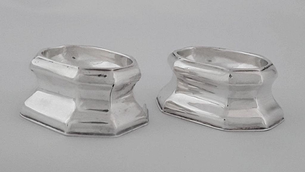 PAIR OF GEORGE II TRENCHER SALTS