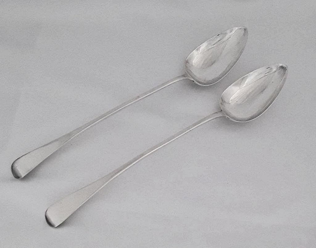 SCOTTISH PROVINCIAL SILVER STUFFING SPOONS