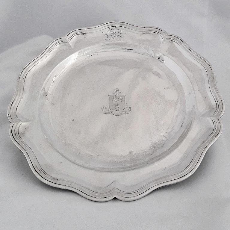 RARE ANCIEN REGIME FRENCH SILVER CHARGER