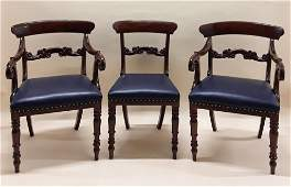 SET OF SEVEN REGENCY PERIOD DINING CHAIRS