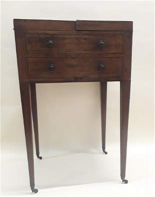 LADIES MAHOGANY HEPPLEWHITE DRESSING TABLE