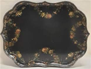 ANTIQUE PAPIER MACHE TRAY
