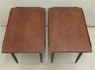 MID CENTURY MODERN TEAK END TABLES