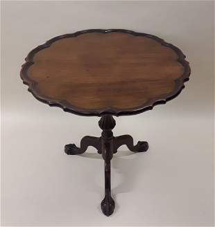 ANTIQUE CHERRYWOOD PIE CRUST TABLE