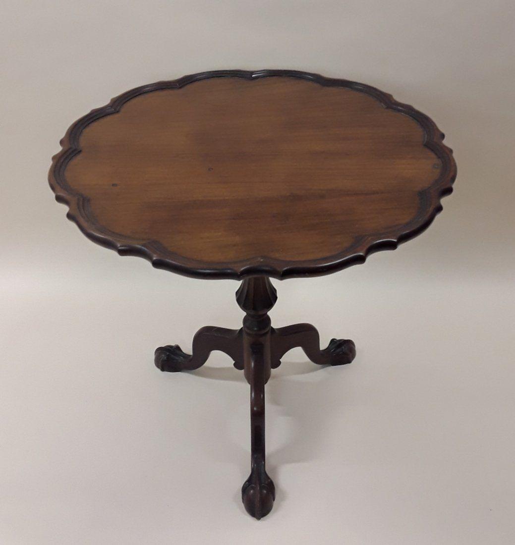 ANTIQUE CHERRYWOOD PIE CRUST TABLE