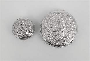 VINTAGE SILVER PILL BOXES