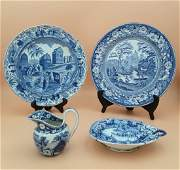 18TH   19TH CENTURY ENGLISH PORCELAIN GROUPING