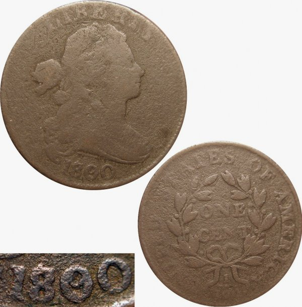 12: 1800/79 LARGE CENT - CLEAR OVERDATE