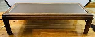 Mid Century Modern Weave Cane Wooden coffee table