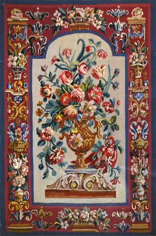 Late 19th Century Antique French Tapestry Textile