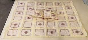 Tribal handmade Moroccan Beaded Wool Blanket and Pillow