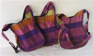 Cactus Silk Cross-body bags adjustable set of 3