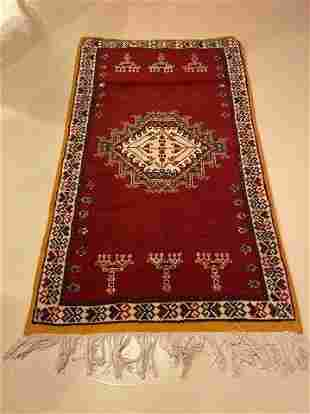 Vintage Tribal Moroccan Red Rug