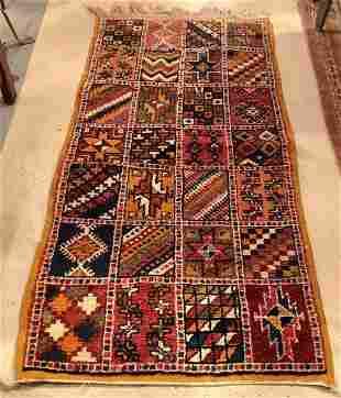 Vintage Tribal Moroccan handmade Wool  Rug or Carpet