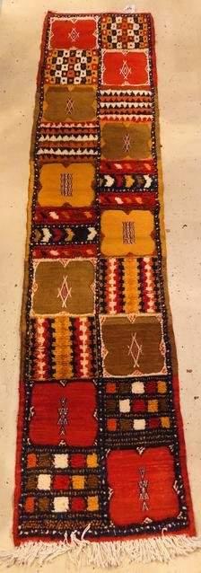 Vintage Moroccan Tribal Berber Wool Runner
