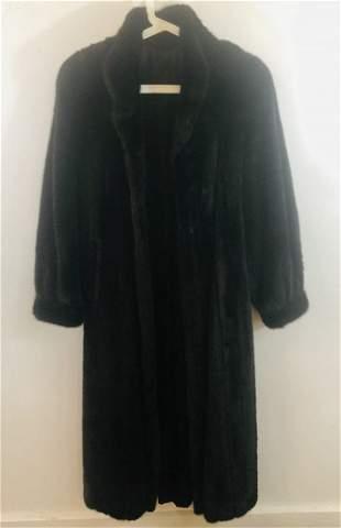 Women Fur Sable or Mink Black Coat