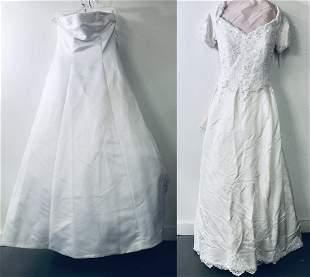 White Wedding Dress, A Set of 2