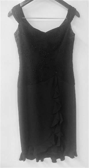 Custom Black Cocktail Dress by Designer Rhonda Baum