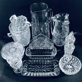 Vintage Hand Cut Crystal Set of 10 Pcs