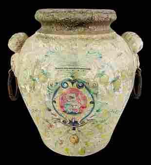 Rustic Italian Pottery Vase Jug