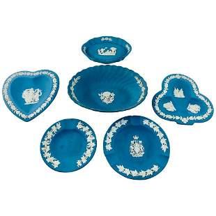 6 English Wedgwood Jasperware Decorative Small Plates