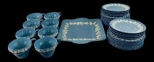 English Wedgwood Jasperware Servingware, Set of 33 Pc