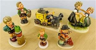 Vintage M.I.Hummel Goebel Original Figurines, Set of 6